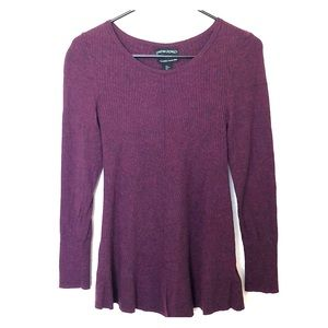 Purple Swing Sweater 100% Merina Wool